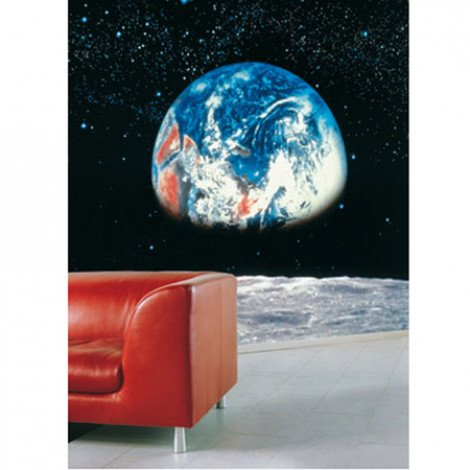 Fotobehang Earth l Moon