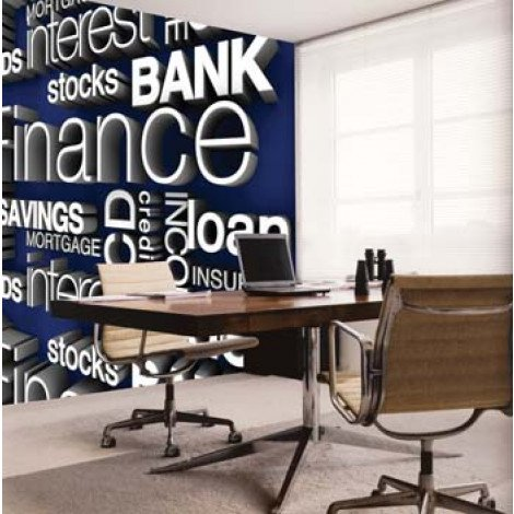 Fotobehang Financial Words