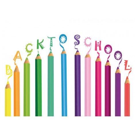 Fotobehang Back to School