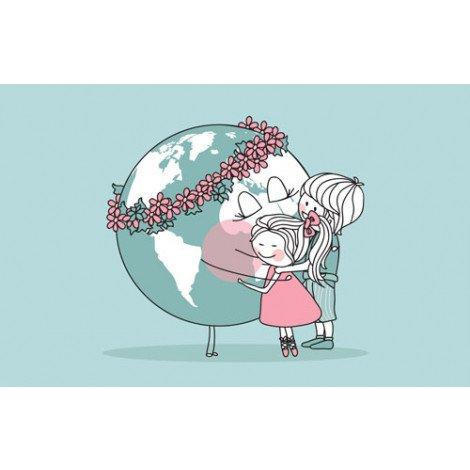 Fotobehang Wereldbol Moeder Natuur