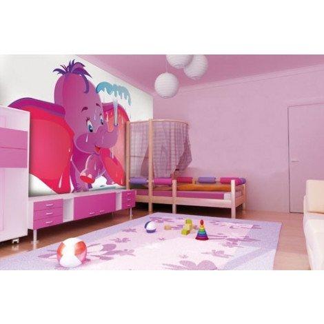 Fotobehang Purple Dumbo