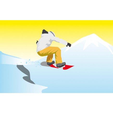 Fotobehang Snowboarder