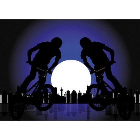 Fotobehang Mountainbiker