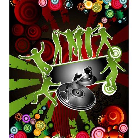 Fotobehang Muziek Disco