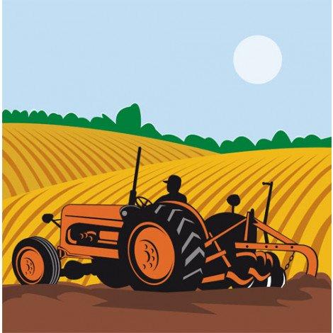 Fotobehang Traktor