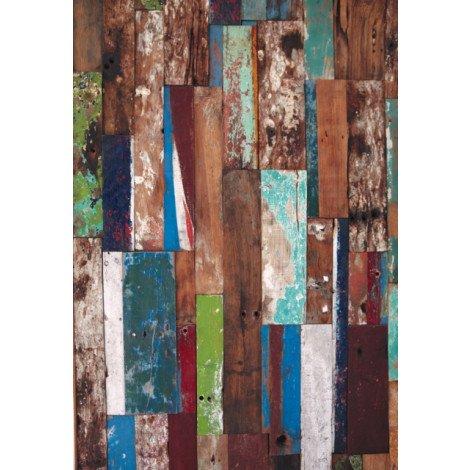 Fotobehang  Steigerhout, oudhout, planken