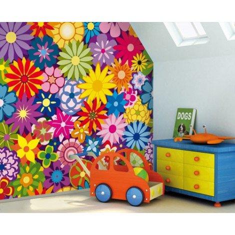 Fotobehang Flower Bed