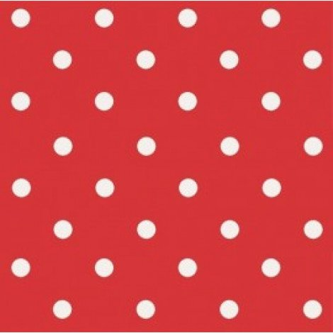 Fotobehang Polka Dots Rood