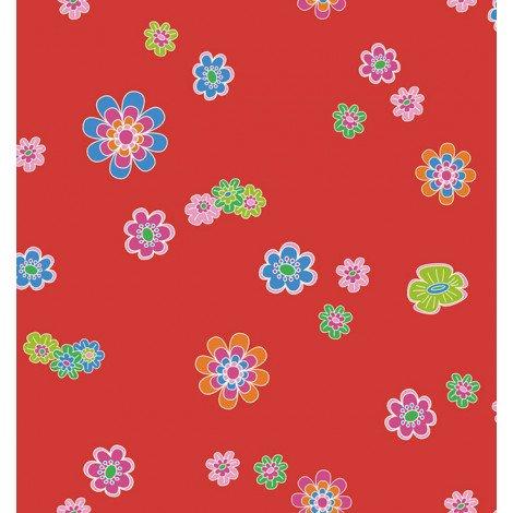 Fotobehang Gekleurde Bloemen Rood