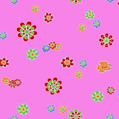 Fotobehang Gekleurde Bloemen Roze