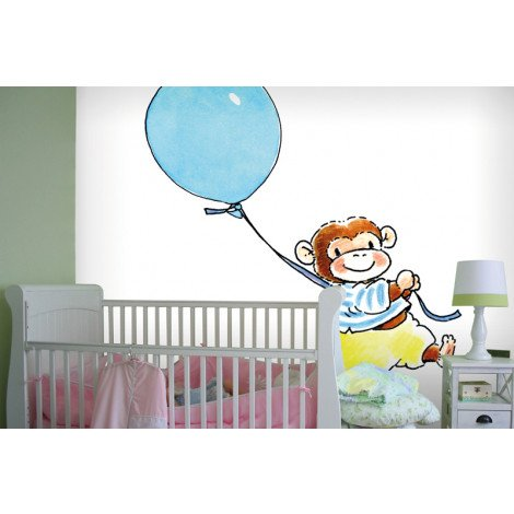 Fotobehang Monkey with a Balloon