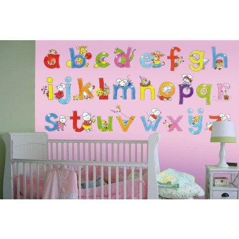 Fotobehang Alphabet Pink