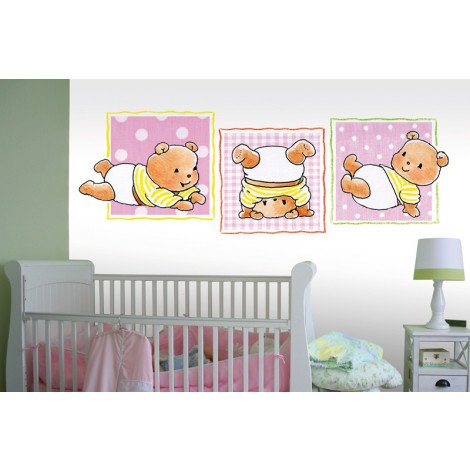 Fotobehang Triple Fun Pink