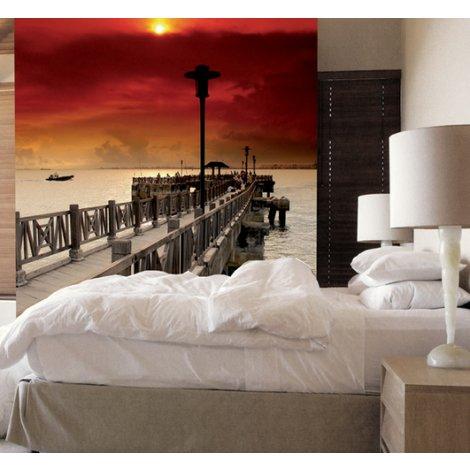 Fotobehang Sunset at the Pier
