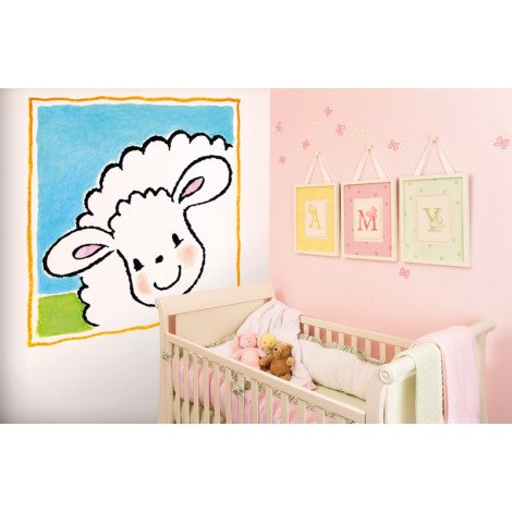 Fotobehang Jolly Sheep Frame