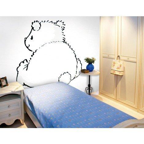 Fotobehang Pompon On White