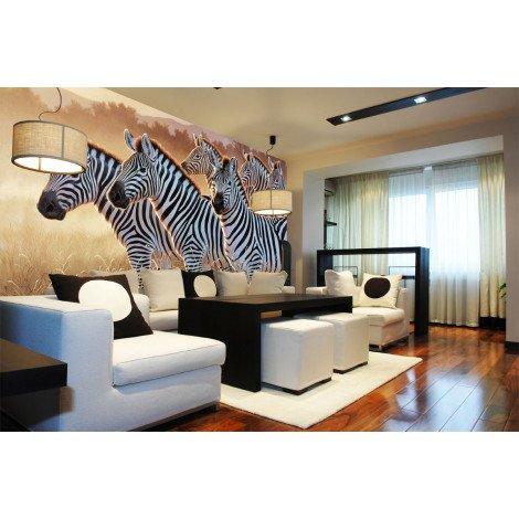 Fotobehang Group of Zebras