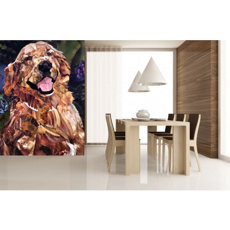 Fotobehang Golden Retriever