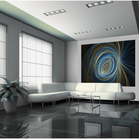Fotobehang Blue Spiral