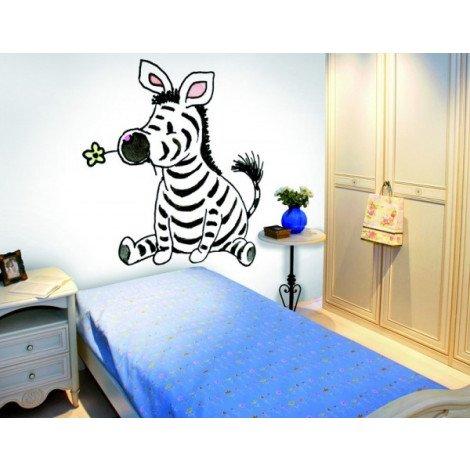 Fotobehang Sitting Zebra