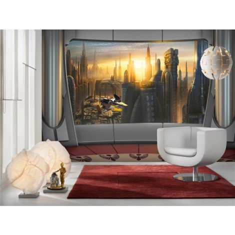 Fotobehang Star Wars Coruscant View