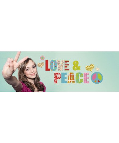 Muursticker Love and Peace