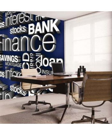 Fotobehang Financial Words