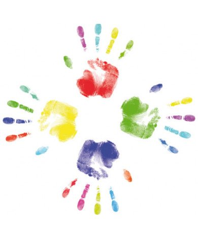 Fotobehang Kinderhandjes