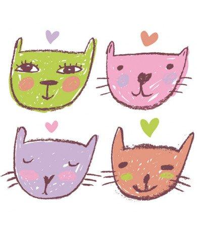 Fotobehang Verliefde Katten