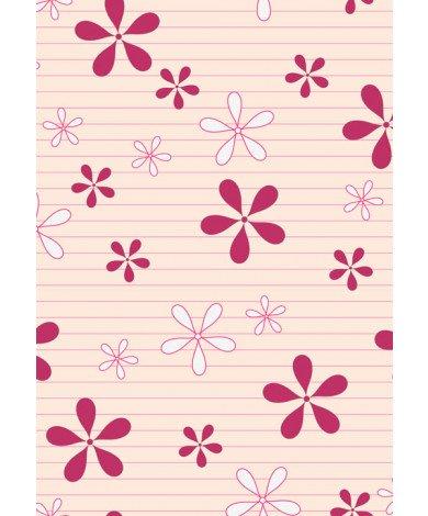 Fotobehang Retro Bloemetjes Roze