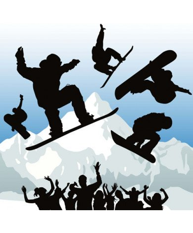 Fotobehang Snowboarder 2