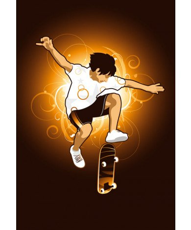 Fotobehang Skateboarder 3