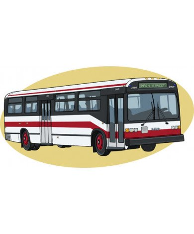 Fotobehang Bus