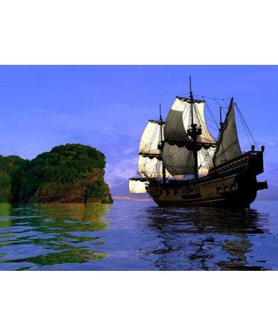 Fotobehang Piratenboot