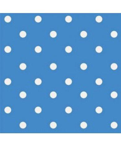 Fotobehang Polka Dots Blauw