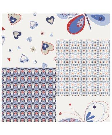 Fotobehang Hartjes Vlinder Blauw
