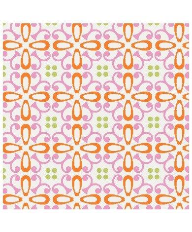 Fotobehang Bloemen Roze Oranje
