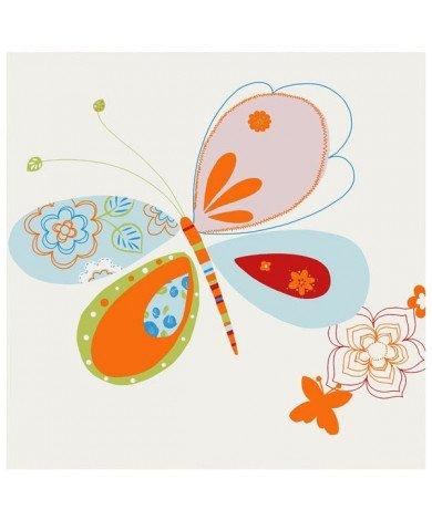 Fotobehang Oranje Vlinder
