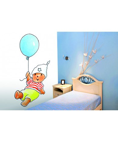 Fotobehang Bobbi With A Blue Balloon