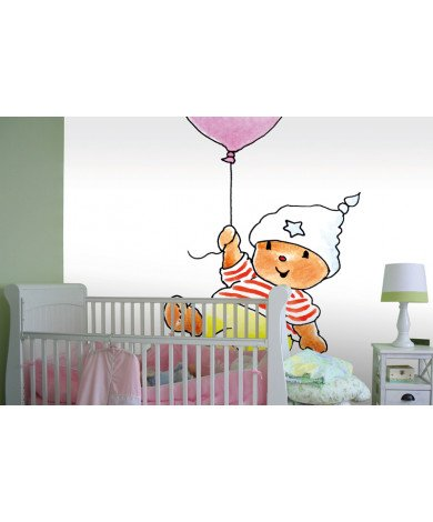 Fotobehang Bobbi With A Pink Balloon