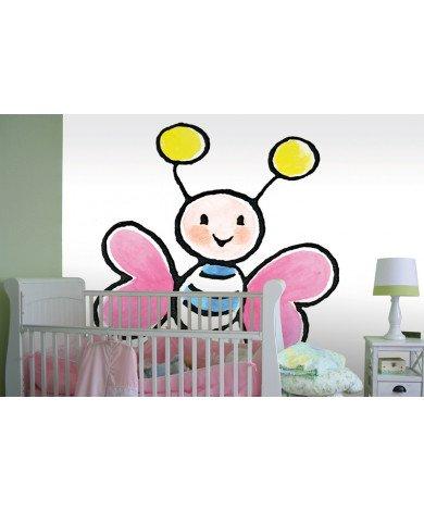 Fotobehang Big Pink Butterfly