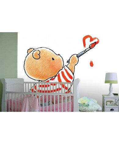 Fotobehang Bobbi Painted Heart