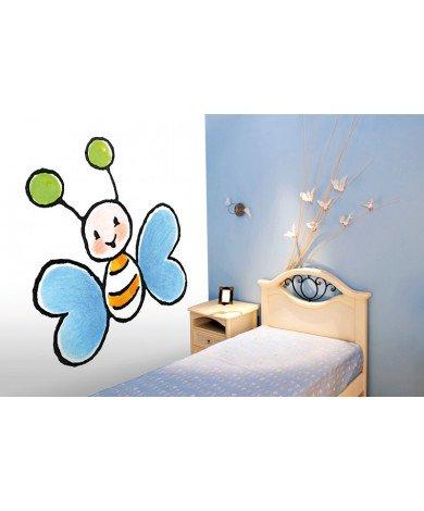 Fotobehang Big Blue Butterfly