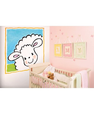 Fotobehang Jolly Sheep Frame
