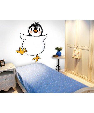 Fotobehang Penguin On White