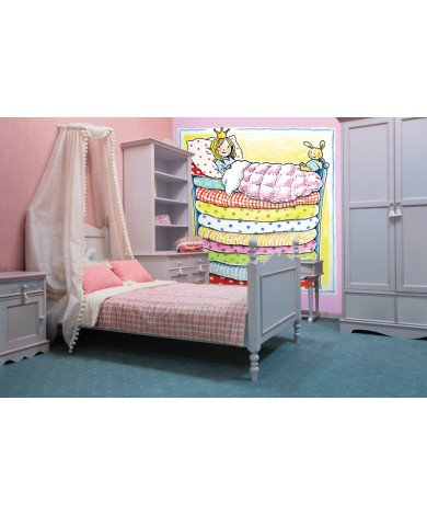 Fotobehang Princess in Bunk Bed