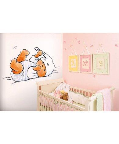 Fotobehang Bear in Bed