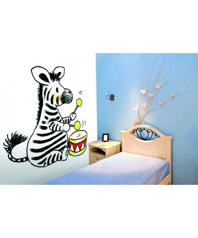 Fotobehang Zebra With Drum