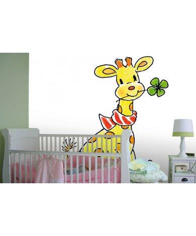 Fotobehang Lucky Giraffe