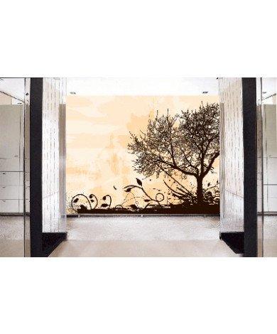 Fotobehang Tree Silhouette